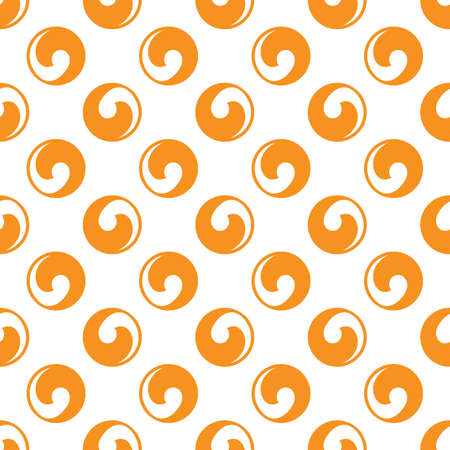 Seamless circle symmetrical abstract pattern. Branding. Background for package product, wallpaper, wrapping, paper. Vector backdrop. Swirl wave symbol