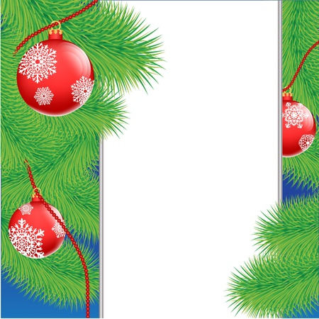 Christmas tree with decorative toys and banner