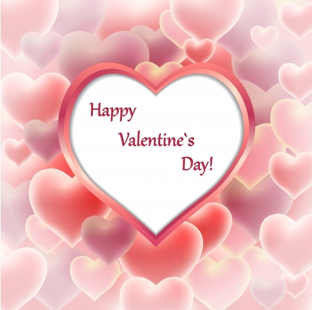 Romantic valentine card with place for your text Illustration