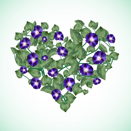Bindweed in a shape of a heart
