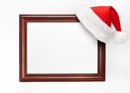 framing: Santa hat on picture framing frame Stock Photo