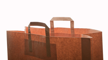 Craft bag pack shopper, isolated on white background.