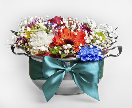 Festive bouquet of fresh flowers Stock Photo