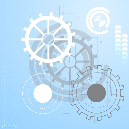 Vector background. Technologies. Detail on a blue background.Eps10.