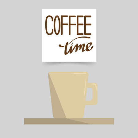 Vector background. Coffee time  Flat style Vectores
