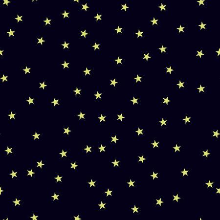 Starry, night sky. Stars .Vector seamless pattern.Eps10.