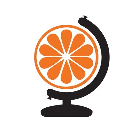 globus: Orange Globus Illustration