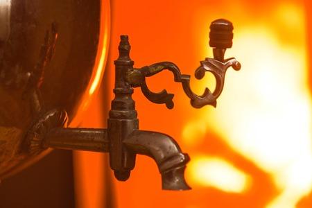 The old faucet samovarau fire