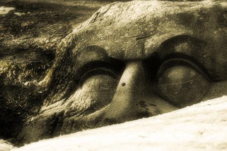 Old Kammenaja head in the Park in Peterhof Russia