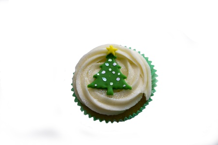 Christmas cup cake cut-out