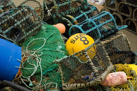 Fishing nets and pots