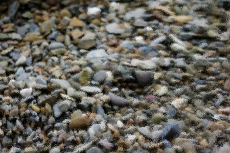 Pebbles with ripple effect