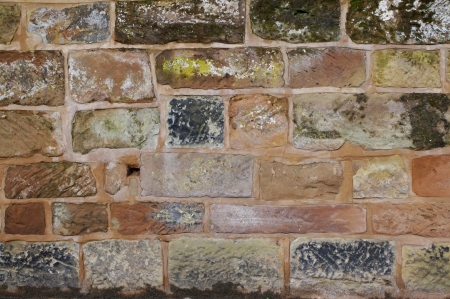 Weathered sandstone wall, Bromsgrove