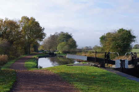 coutryside: Locks on Worcester - Birmingham canal near Bromsgrove