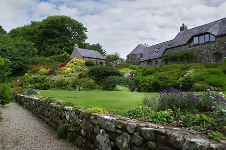 Gardens in summer at Ffald-y-Brenin Christian Retreat Centre Editorial