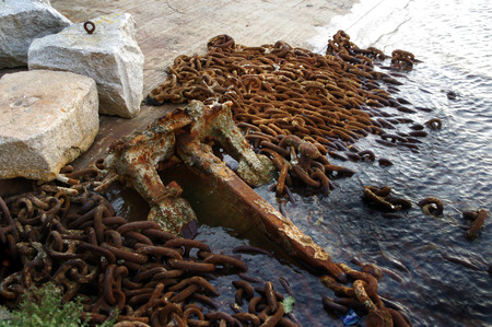 rusting: Rusting anchor Stock Photo
