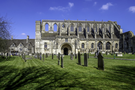 Malmesbury Abbey from the south Stock Photo