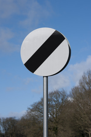 National limit UK  speed sign