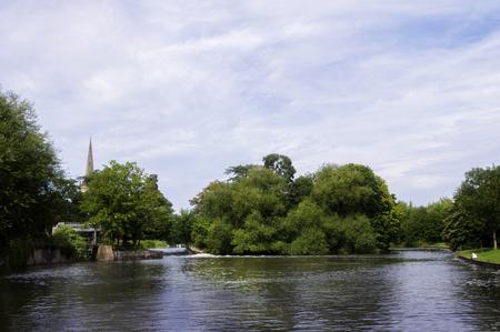 stratford upon avon: Lucys Mill Weir, Stratford upon Avon