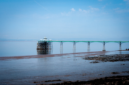 Clevedon Pier in Somerset on the Severn Estuary.