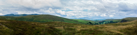 View towards Aran Fawddwy from Bwlch-y-groes, Gwynnedd, one of the highest passes in Wales. Snowdonia. Stock Photo