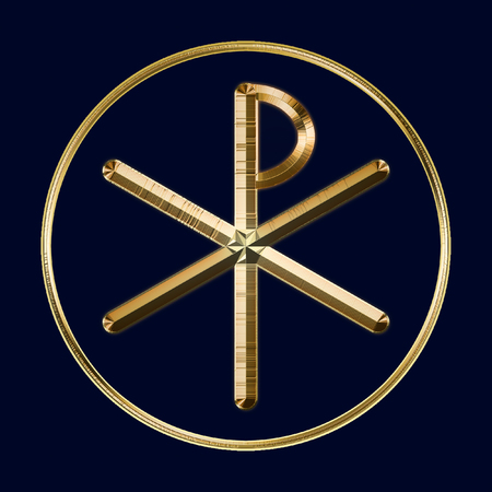 The Ancient Christian Chi Rho Symbol From The First Two Letters