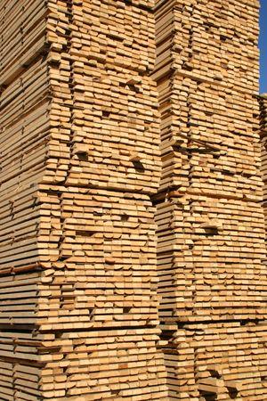 Stacked lumber Stok Fotoğraf
