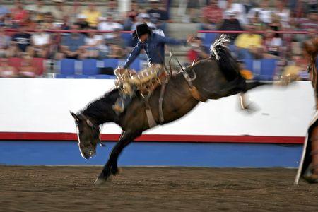 Slow Shutter Speed Night Rodeo Rider