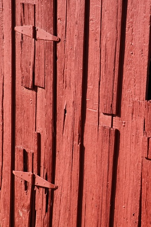 Side of an Old Red Barn