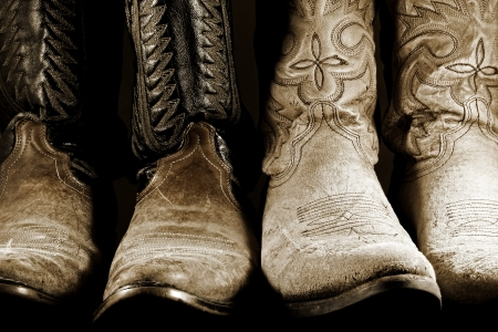 Two Pairs of Cowboy Boots photo
