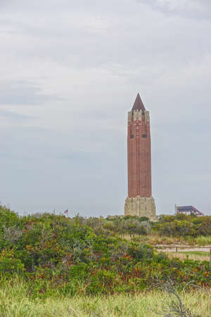 Jones Beach State Park, New York: The iconic water tower at Jones Beach. Art Deco inspired motifs are combined with Beaux Arts architectural design.