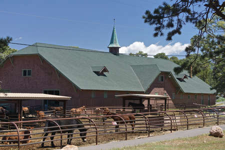 Grand Canyon National Park, Arizona: Mules are housed at the El Tovar Stables (1904) at the South Rim of the Canyon, a designated National Historic Landmark.