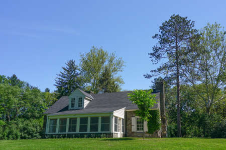 Hyde Park, New York: The Stone Cottage at Val-Kill, the Eleanor Roosevelt National Historic Site in Dutchess County, New York.