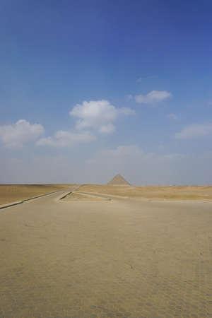 Dahshur, Egypt: View of the Red Pyramid, the third pyramid built by Old Kingdom Pharaoh Sneferu.
