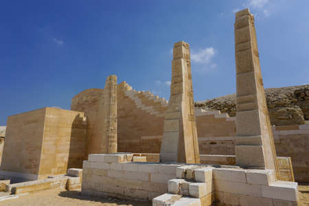 Saqqara, Egypt: Detail of the funerary complex of Djoser. Sajtókép