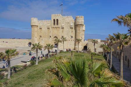 Alexandria, Egypt: The Qaitbay Citadel, built by Sultan Qaitbay in 1477 AD.