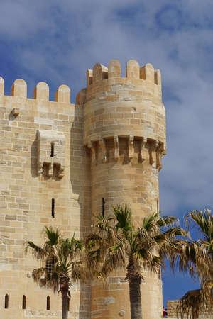 Alexandria, Egypt: Detail of the Qaitbay Citadel, built by Sultan Qaitbay in 1477 AD. Sajtókép