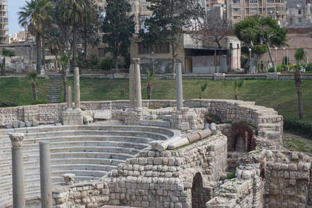 Alexandria, Egypt: The Roman Theater at Kom el-Dikka, a Polish-Egyptian archaeological project that has uncovered an ancient city center. Sajtókép