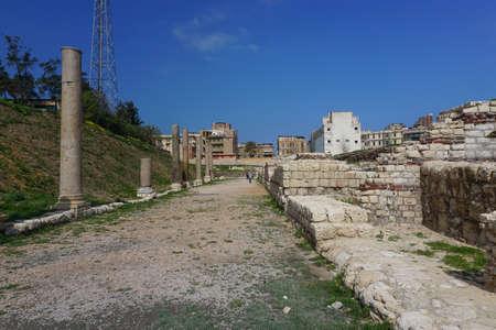Alexandria, Egypt: An avenue in Kom el-Dikka, a Polish-Egyptian archaeological project that has uncovered an ancient city center. Sajtókép
