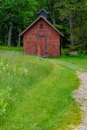 Sagamore Lake, NY: The Ice House at Great Camp Sagamore, built in 1897. Sajtókép