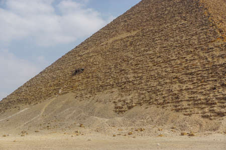 Dahshur, Egypt: The Red Pyramid was the third pyramid built by Old Kingdom Pharaoh Sneferu. Stock fotó