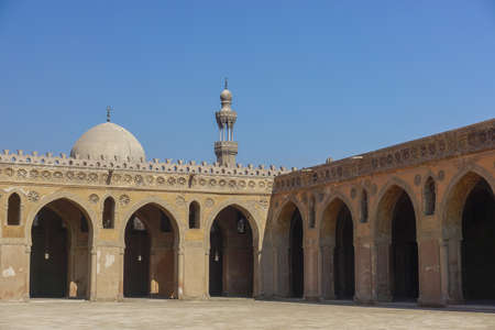 Cairo, Egypt: Courtyard of the Mosque of Ibn Tulun (879 AD) -- the oldest in Cairo surviving in its original form and the largest in land area.