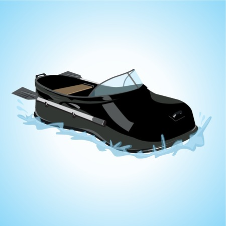 galoshes: Shoes in the form of a boat