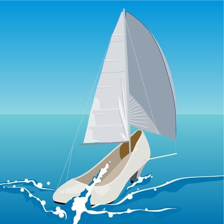sailfish: Scarpe donna, sotto forma di un pesce vela
