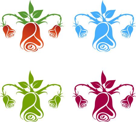 gynecology: Gynecology logo, flowers on the white background