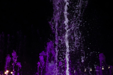 Multimedia laser colorful musical show in Anapa fountain.
