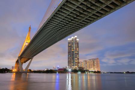 bhumibol: Bhumibol bridge - Bangkok, Thailand Stock Photo
