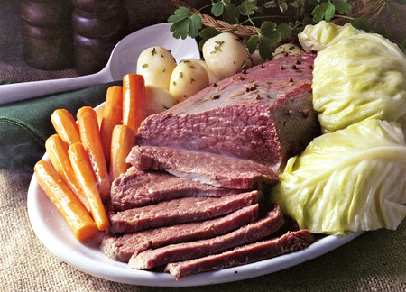 green cabbage: Corned Beef And Cabbage Meal