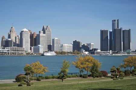 Detroit Skyline Banco de Imagens