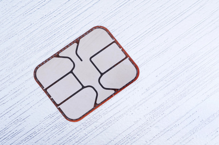 EMV, Smart Card, Computer Chip In Stainless Steel